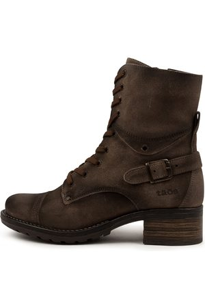 Taos Crave Smoke Rugged Boots Womens Shoes Casual Calf Boots
