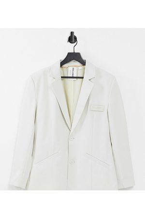 COLLUSION Unisex oversized blazer in off-white