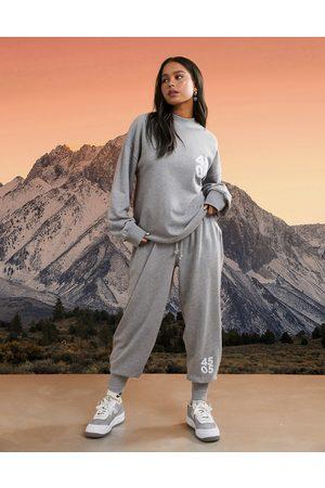 ASOS 4505 unisex rib cuff jogger-Grey