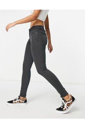 Topshop Leigh jeans in black wash