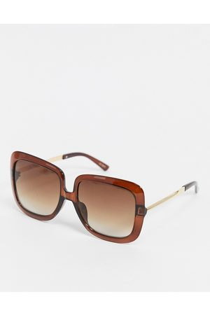 Jeepers Peepers Women's square sunglasses in red