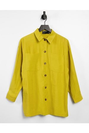 ASOS Relaxed shacket suit in chartreuse-Yellow