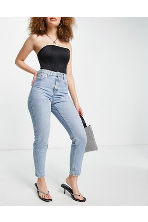 Topshop Mom jeans in bleach-Blue