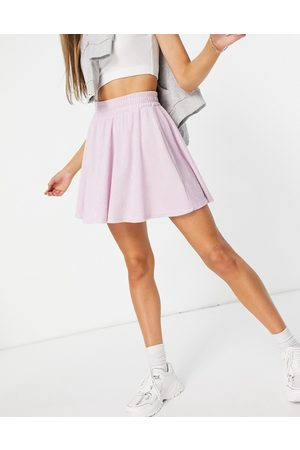 ASOS Towelling flippy mini skirt in lilac-Purple