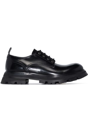 Alexander McQueen Women Brogues - Wander leather lace-up shoes
