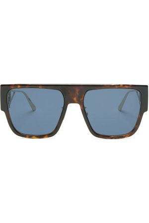 DIOR 30montaigne D-frame Acetate And Metal Sunglasses - Womens - Tortoiseshell