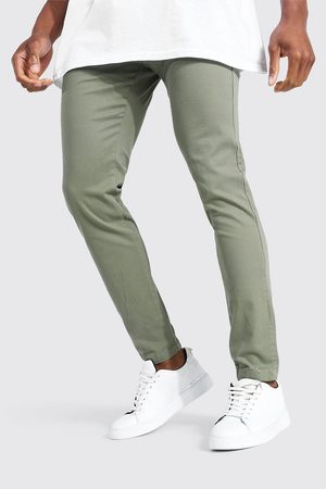Boohoo Men Chinos - Mens Khaki Super Skinny Chino Trouser