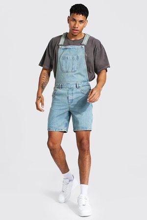 Boohoo Men Slim - Mens Antique Slim Rigid Short Dungaree