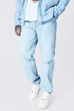 Boohoo Men Bootcut & Flares - Mens Ice Relaxed Fit Knee Slash Jean