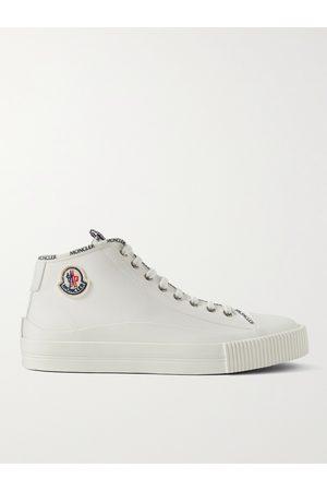 Moncler Men Sneakers - Lissex Logo-Appliquéd Cotton-Canvas High-Top Sneakers