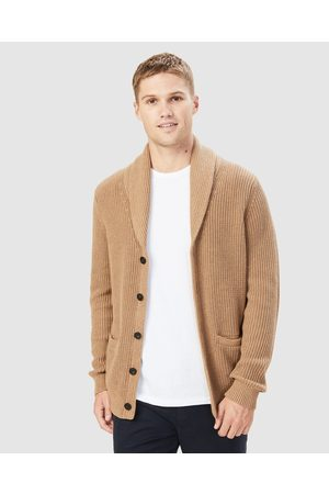 French Connection Marl Shawl Cargidgan - Jumpers & Cardigans (CAMEL MARLE) Marl Shawl Cargidgan