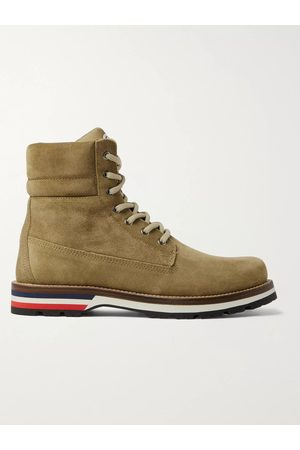 Moncler Men Hiking Boots - Vancouver Striped Leather Hiking Boots