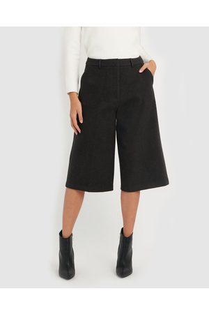 Forcast Women Culottes - Imogen Culotte - Pants (Charcoal) Imogen Culotte