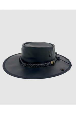 Jacaru 101 Boundary Rider Bovine Leather Hat - Hats 101 Boundary Rider Bovine Leather Hat