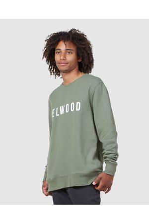 Elwood Men Sweatshirts - Mens Huff N Puff Crew - Crew Necks (Army ) Mens Huff N Puff Crew