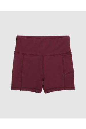 School Active Sports Girls Sports Leggings - Empower Flex Shorts - Sports Tights (Maroon) Empower-Flex Shorts