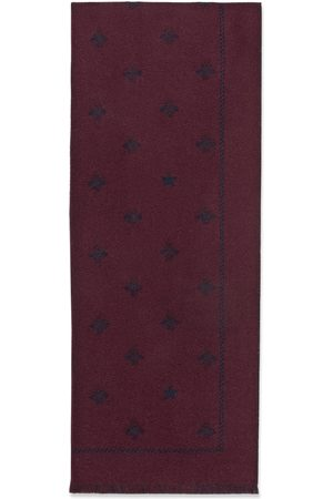 Gucci Men Scarves - Wool scarf with bees and stars