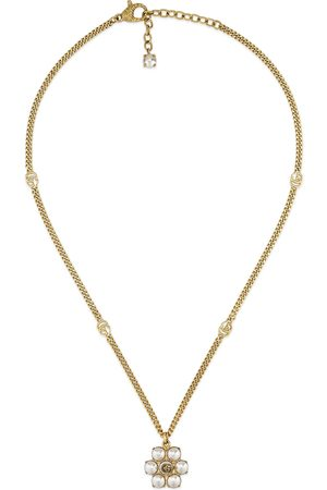 Gucci Women Necklaces - Pearl Double G necklace