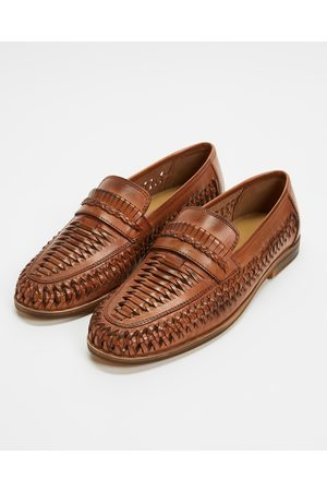 Staple Superior Men Casual Shoes - Molina Woven Leather Loafers - Casual Shoes (Tan) Molina Woven Leather Loafers