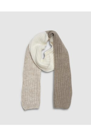 Kate & Confusion Block Scarf - Scarves & Gloves (Taupe) Block Scarf