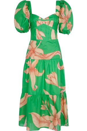 Johanna Ortiz Colorful Culture floral cotton midi dress