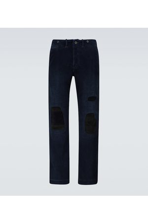 RRL Distressed corduroy pants