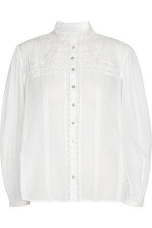 LOVESHACKFANCY Women Blouses - Ronda cotton blouse
