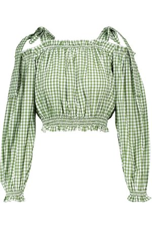 ALEXANDRA MIRO Exclusive to Mytheresa – Gingham cotton crop top