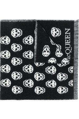Alexander McQueen Men Scarves - Skull intarsia-knit scarf