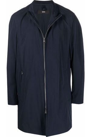 HUGO BOSS Stand-up collar zip-up coat