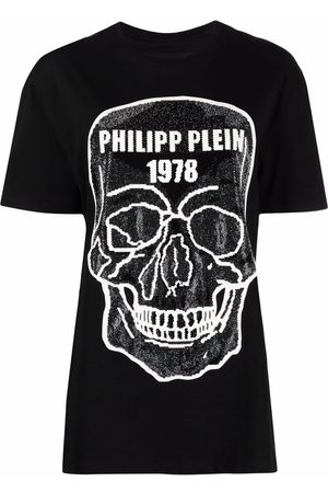 Philipp Plein Women Short Sleeve - Skull-embellished round-neck T-shirt
