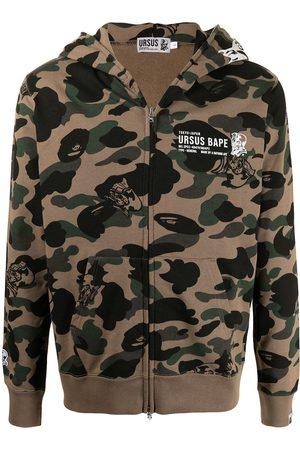 A Bathing Ape Men Hoodies - Camouflage-print hoodie