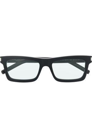 Saint Laurent Engraved-logo square-frame glasses