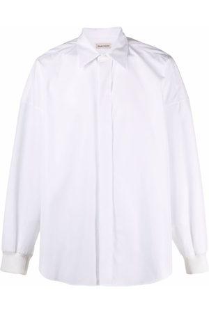 Alexander McQueen Drop-shoulder long-sleeve shirt