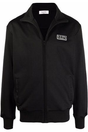 VALENTINO Logo-patch zipped sweatshirt