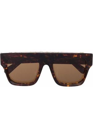 Stella McCartney Tortoiseshell-effect aviator-frame sunglasses