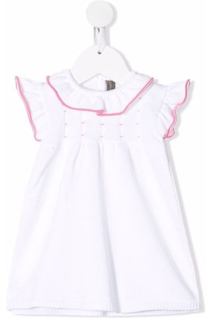 LITTLE BEAR Baby Knitted Dresses - Purl-knit ruffled dress