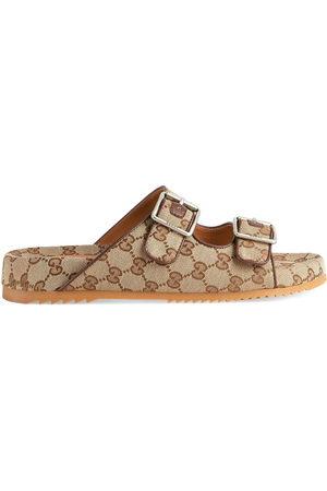 Gucci GG Supreme-print mule sandals