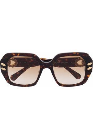 Stella McCartney Braided oversized-frame sunglasses