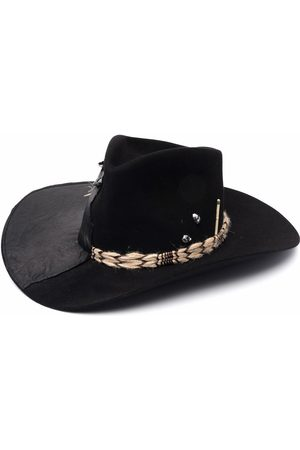NICK FOUQUET Hats - Panelled wool fedora hat