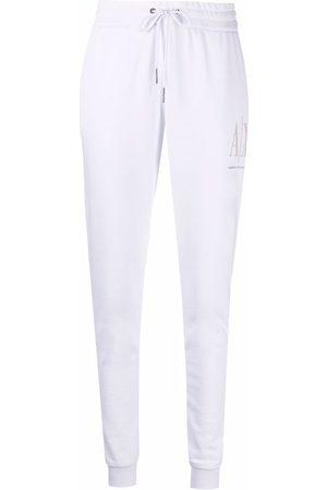 Armani Embellished-logo sweatpants