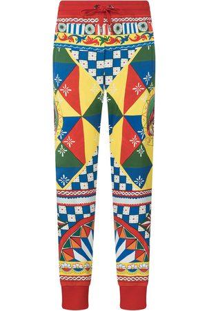 Dolce & Gabbana Women Joggers - Multi-panel geometric-print track pants