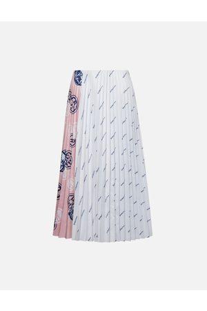 Evisu Women Pleated Skirts - Color-blocking Pleated Skirt