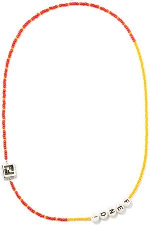 Fendi Logo-beaded Necklace - Mens - Multi