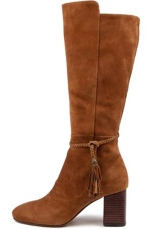 Mollini Women Knee High Boots - Spesh Mo Walnut Boots Womens Shoes Casual Long Boots