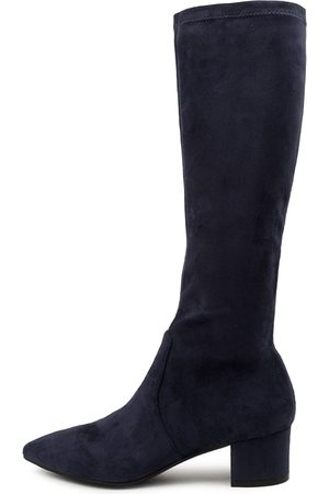 Top end Women Knee High Boots - Alia To Navy Boots Womens Shoes Casual Long Boots