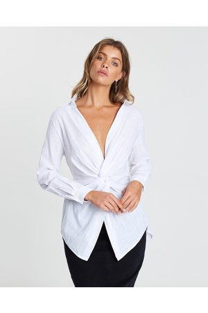 Atmos&Here Women Shirts - Katherine Twist Front Shirt - Tops Katherine Twist Front Shirt
