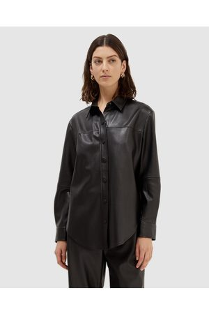 SABA Women Shirts - Viv Vegan Leather Shirt - Tops Viv Vegan Leather Shirt