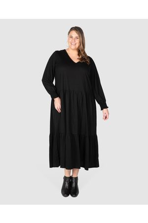 Love Your Wardrobe Women Maxi Dresses - Maya Knit Tiered Maxi Dress - Dresses Maya Knit Tiered Maxi Dress