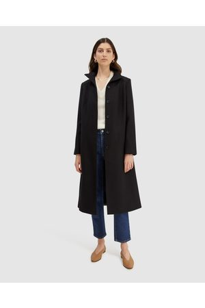 SABA Prudence Funnel Neck Coat - Trench Coats Prudence Funnel Neck Coat